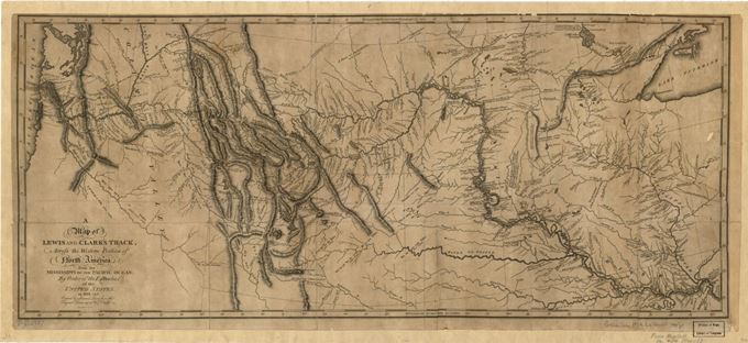 Lewis and Clark's map after their two year expedition
