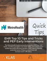 EHR Top 10 Tips and Tricks and PEP Early Interventions
