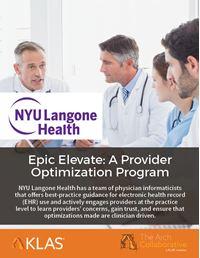 Epic Elevate: A Provider Optimization Program