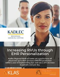 Increasing RVUs through EHR Personalization