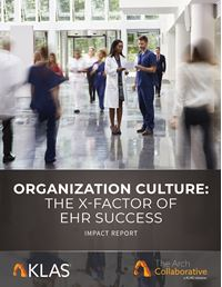 Organization Culture: The X-Factor of EHR Success