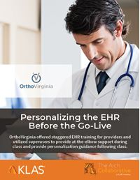 Personalizing the EHR before the Go-Live