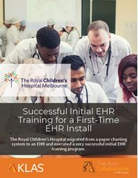 Successful Initial EHR Training for a First-Time EHR Install