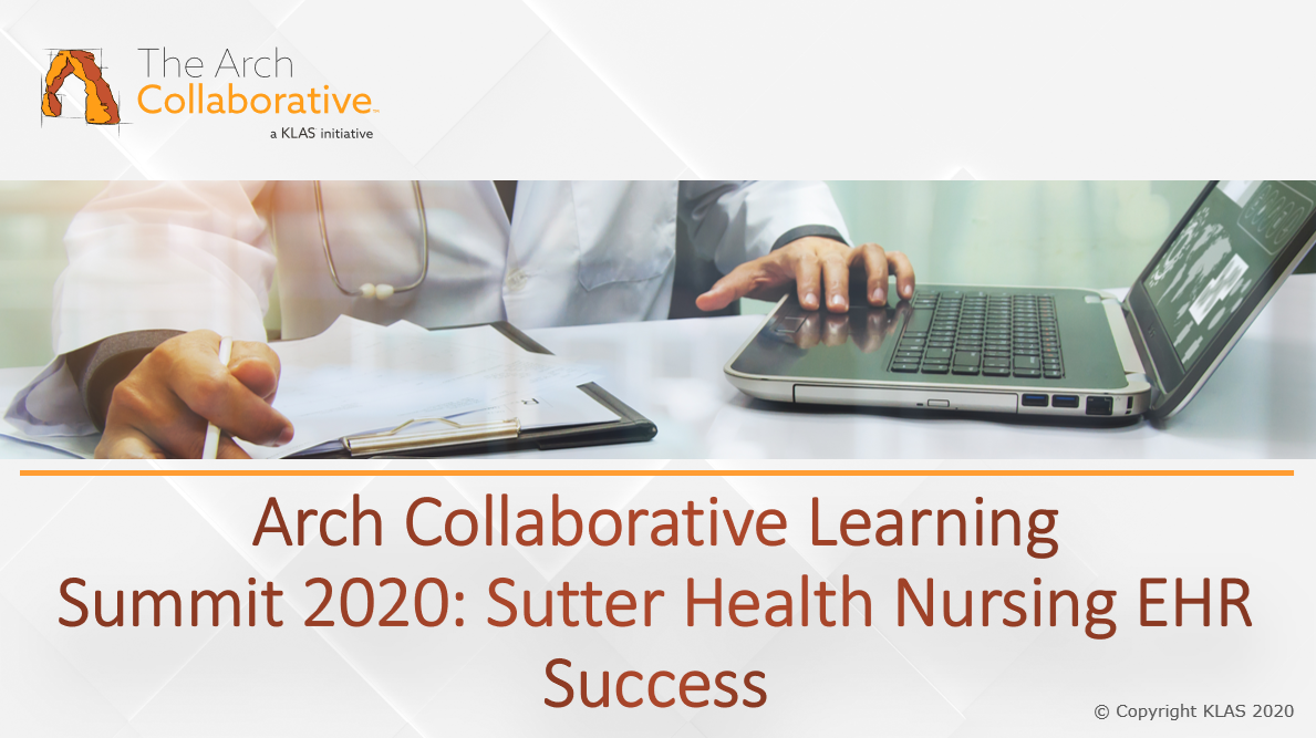Nursing EHR Success - Sutter Health