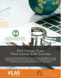 First Comes Trust, Then Comes EHR Success