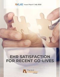 EHR Satisfaction  for Recent Go-Lives