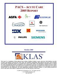 PACS - Acute Care Large Study 2005