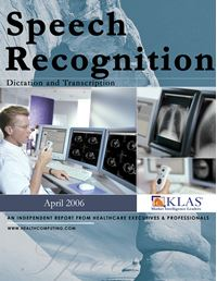 Speech Recognition Report 2006