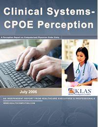 CIS/CPOE 2006 Perception