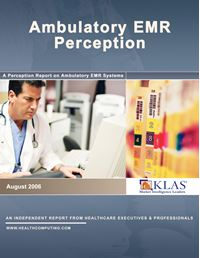 Ambulatory EMR Perception 2006