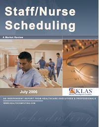 Staff and Nurse Scheduling, Market Review 2006