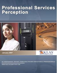 Professional Services Perception 2007
