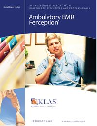 Ambulatory EMR Perception 2008