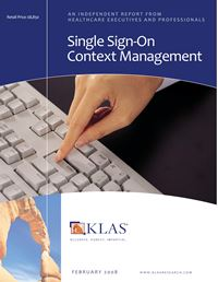 Single Sign-On / Context Management 2008