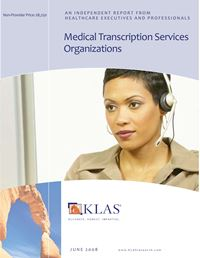 Medical Transcription Services Organizations (MTSO) 2008