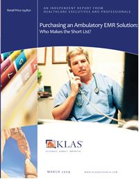 Purchasing an Ambulatory EMR Solution
