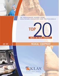 2009 Best in KLAS Awards - Medical Equipment