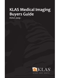 KLAS Medical Imaging Buyers Guide 2009