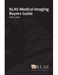 KLAS Medical Imaging Buyers Guide 2009