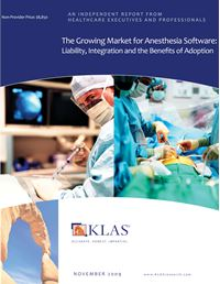 The Growing Market for Anesthesia Software