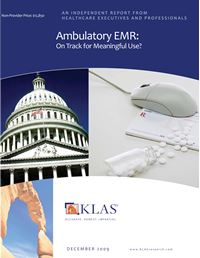 Ambulatory EMR 2009