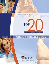 2009 Best in KLAS Awards -  Software and Professional Services