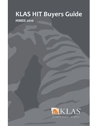 KLAS HIT Buyers Guide 2010