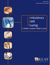 Ambulatory EMR Buying