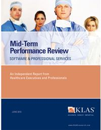 2010 Mid-Term Performance Review - Software and Professional Services