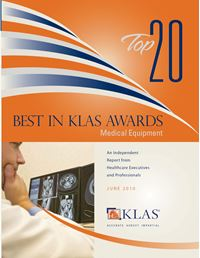 2010 Best in KLAS Awards - Medical Equipment