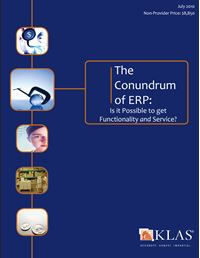 The Conundrum of ERP