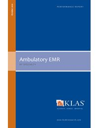 Ambulatory EMR - by Specialty