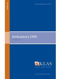 Ambulatory EMR - by Specialty