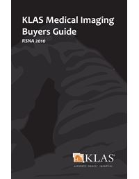 KLAS Medical Imaging Buyers Guide 2010