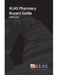 KLAS Pharmacy Buyers Guide 2010