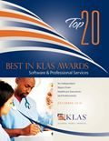 2010 Best in KLAS Awards - Software and Professional Services