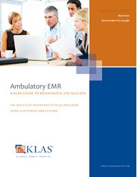 Ambulatory EMR Meaningful Use 2011