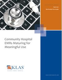 Community Hospital EMRs Maturing for Meaningful Use