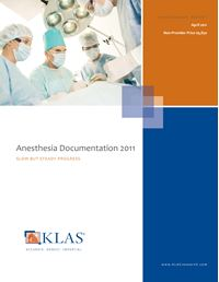 Anesthesia Documentation 2011