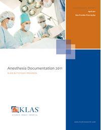 Anesthesia Documentation 2011