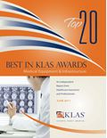 2011 Best In KLAS Awards: Medical Equipment & Infrastructure