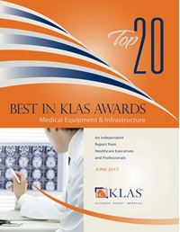 2011 Best in KLAS Awards - Medical Equipment and Infrastructure