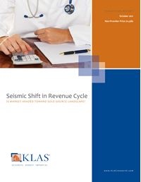 Seismic Shift in Revenue Cycle