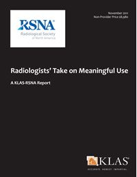 Radiologists' Take on Meaningful Use