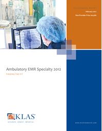 Ambulatory EMR Specialty 2012