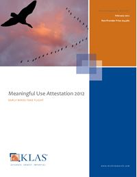Meaningful Use Attestation 2012