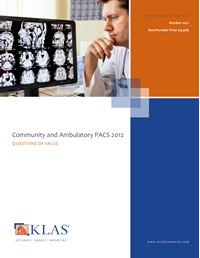 Community and Ambulatory PACS 2012