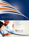 2012 Best in KLAS Awards - Software and Professional Services
