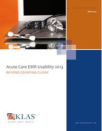 Acute Care EMR Usability 2013
