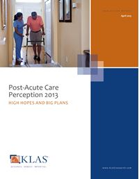 Post-Acute Care Perception 2013